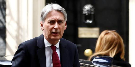 El secretario del Tesoro, Philip Hammond