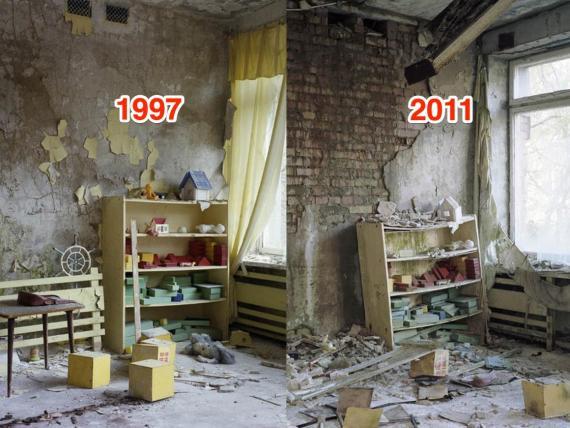 """""""Los edificios se deterioran y dejan paso a la naturaleza"""", cuenta David McMillan, el fotógrafo, a Business Insider"""