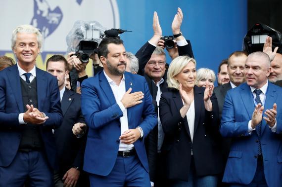 La convención de los partidos de ultraderecha europeos en Milán