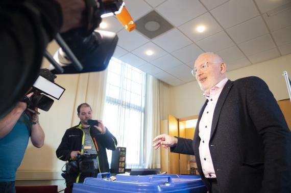 Frans Timmermans, candidato del Partido Socialista Europeo a la presidencia de la Comisión Europea
