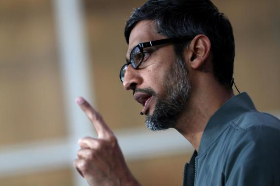Sundar Pichai, actual CEO de Google.
