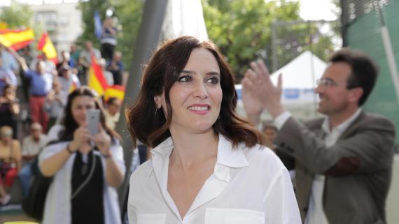 Isabel Diaz Ayuso, candidata del PP a la Comunidad de Madrid.