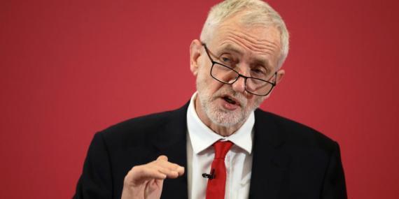 El líder laborista Jeremy Corbyn.