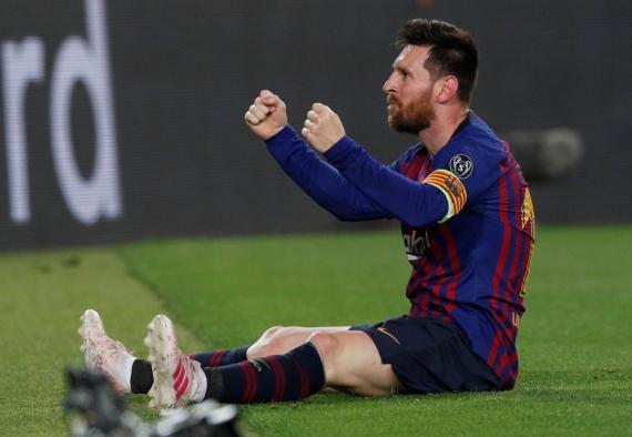 Lionel Messi, delantero del FC Barcelona