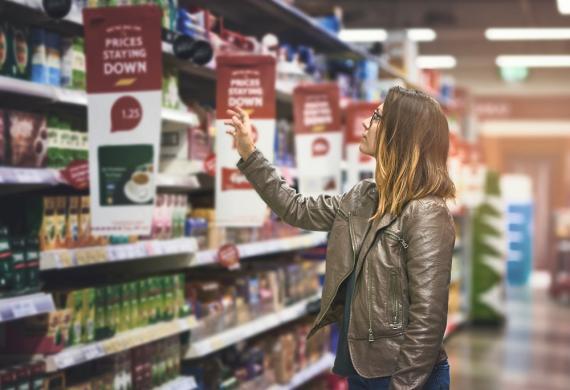 Marcas en un supermercado