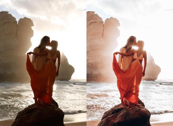 Marie Fe y Jake Snow demuestran cómo la edición puede cambiar una foto.