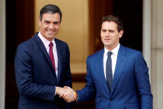 Pedro Sánchez, presidente del Gobierno, y Albert Rivera, líder de Ciudadanos.