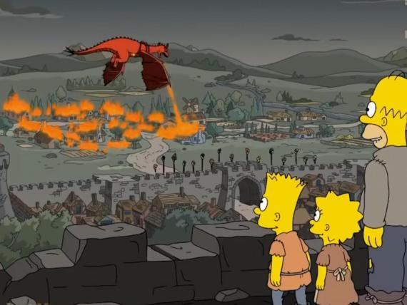 """Una escena de """"Los Simpsons"""" en la 29ª temporada en el episodio uno titulado """"Los siervos""""."""