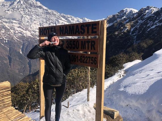 Dormimos a 3550 metros.