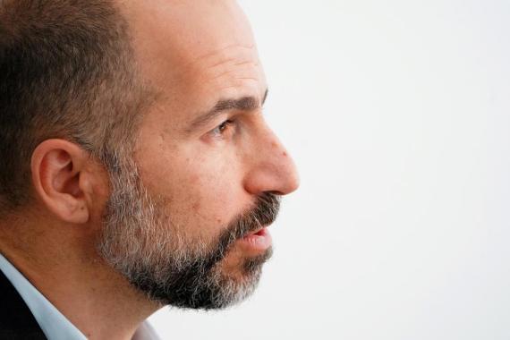 Uber CEO Dara Khosrowshahi, cuya empresa empezará a cotizar en la Bolsa de Nueva York este viernes.