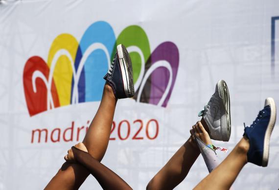 Uno de los actos de la candidatura Madrid 2020