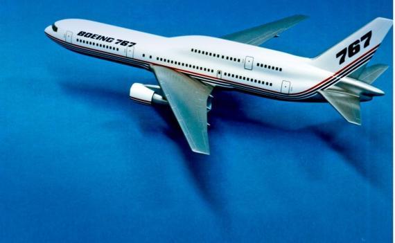 El B767 de dos pisos se diseñó para atender a la demanda de un avión con más capacidad.