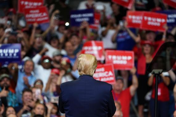Donald Trump, en su primer acto para la reelección en 2020