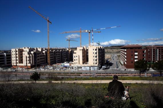 Edificios en construcción a las afueras de Madrid