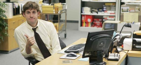 Jim (John Krasinski) en 'The Office'.