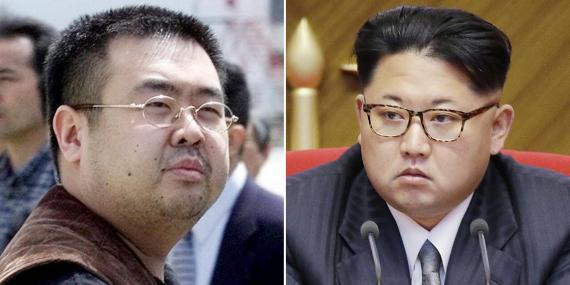 Kim Jong-nam (izquierda) y el líder de Corea del Norte, Kim Jong Un.