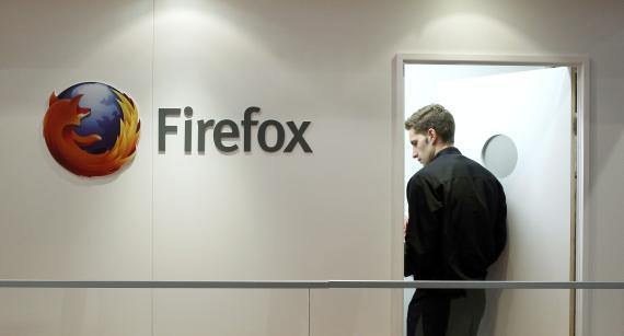 El logo de Firefox en una imagen de archivo del Mobile World Congress de Barcelona.