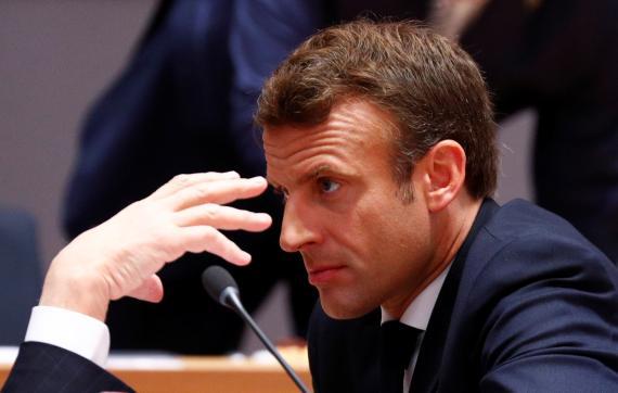 El presidente francés, Emmanuel Macron, durante la reunión del Consejo Europeo.