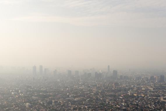 Panorámica de la contaminación en México D.F.