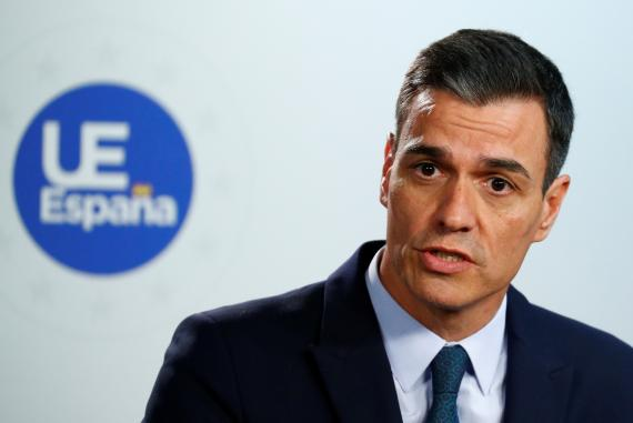 Pedro Sánchez, tras la reunión del Consejo Europeo.