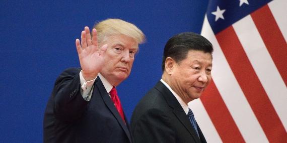 El presidente de los Estados Unidos, Donald Trump, y el presidente de China, Xi Jinping, en 2017