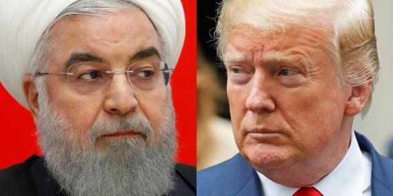 El presidente iraní Hasán Rohaní y el presidente estadounidense Donald Trump