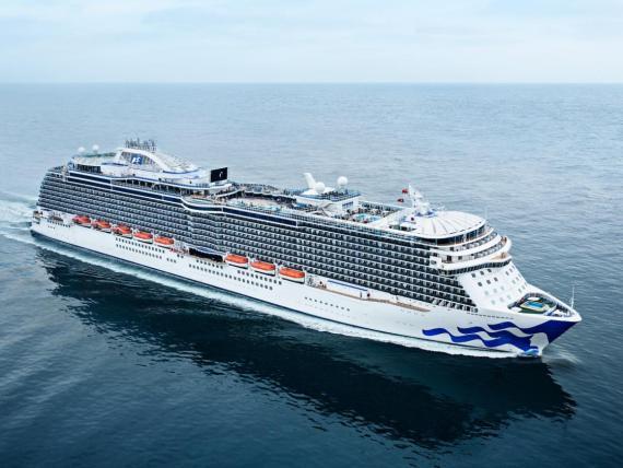 El barco Regal Princess de Princess Cruises.