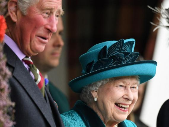 Queen Elizabeth II, Prince Charles, and Princess Anne attend the annual Braemar Highland Gathering on September 1, 2018 in Braemar, Scotland.