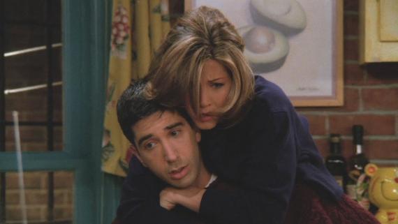 Ross y Rachel de Friends.