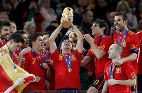 Victoria de la selección española de fútbol.