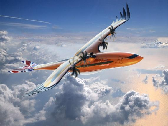 """Airbus presentó una representación visual del """"Bird of Prey"""" durante el Royal International Air Tattoo en el Reino Unido."""