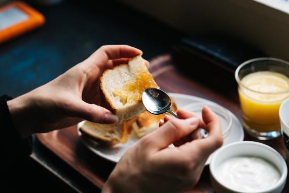 comida, tostadas, desayuno
