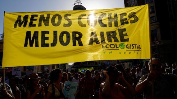 Ecologistas en Acción, en la manifestación contra la suspensión de Madrid Central.