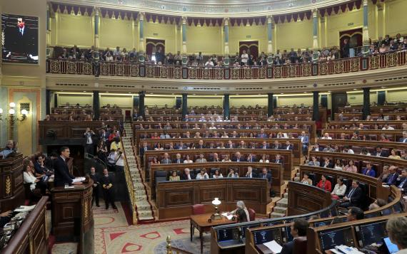 El hemiciclo del Congreso de los Diputados.