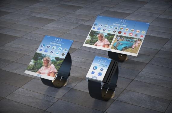 IBM patente un smartphone con ocho pantallas plegables que se convierte en tablet