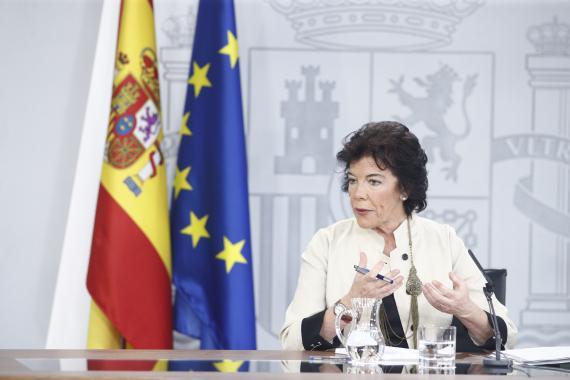 La ministra de Educación y portavoz del Gobierno en funciones, Isabel Celaá.