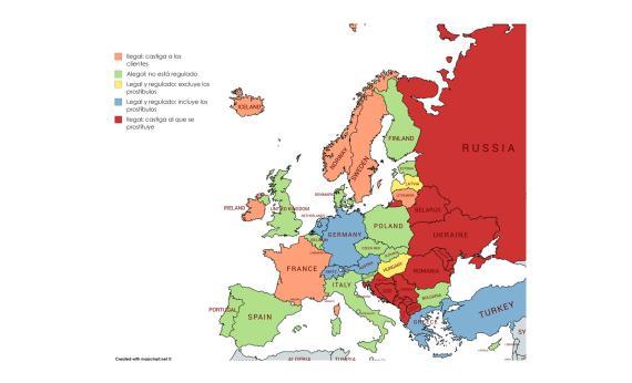 mapa prostitución europa