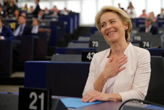 La nueva presidenta de la Comisión Europea, Ursula von der Leyen.