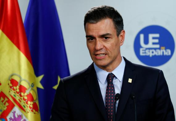 El presidente del Gobierno español en funciones, Pedro Sánchez.