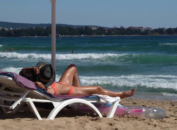 playa, verano, tomar el sol