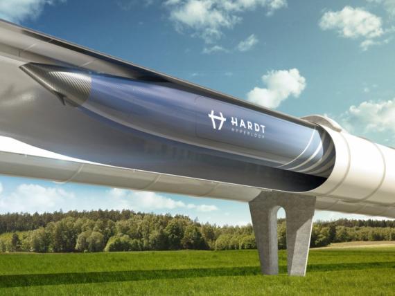 La startup de tecnología limpia Hardt desarrolla un sistema de Hyperloop.