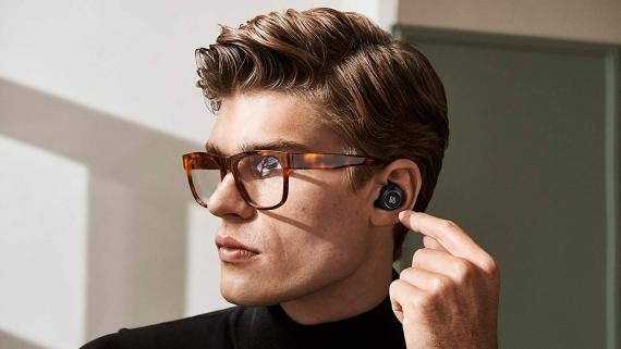 uriculares inalámbricos con Bluetooth, negro
