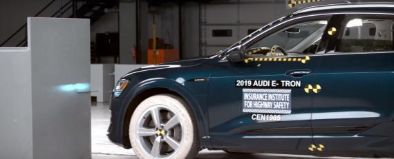 Audi e-tron es el coche eléctrico más seguro de 2019