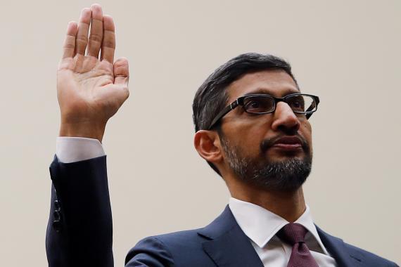 El CEO de Google, Sundar Pichai, en una foto de archivo.