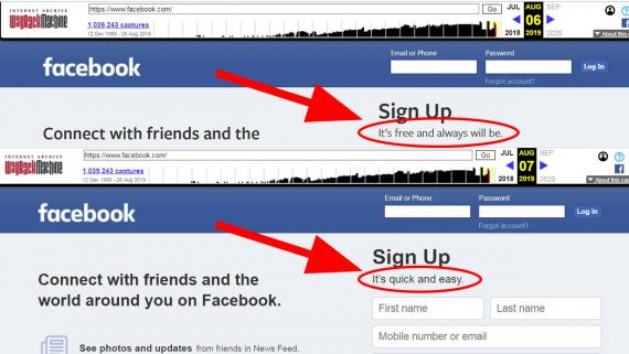 Facebook cambia de lema