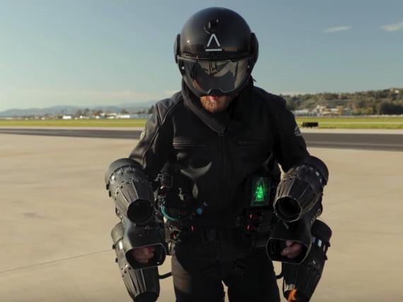 Gravity Industries' jet pack suit.
