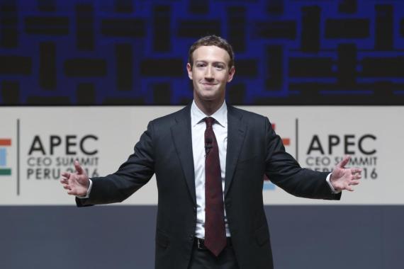 Mark Zuckerberg, presidente y CEO de Facebook.