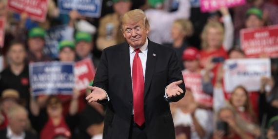 Donald Trump durante un mitin electoral en Iowa en una imagen de archivo.