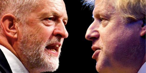 Jeremy Corbyn y Boris Johnson.