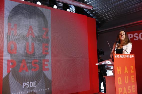 Acto de presentación de la campaña del PSOE para las elecciones generales del 28 de abril de 2019.